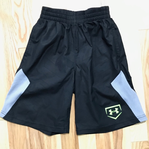 Under Armour Other - Under Armour Boys Black Athletic Shorts sz XS
